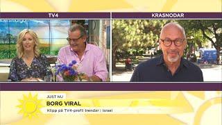 """Stefan Borg har blivit viral i Israel """"Nu sprids klippet på spanska dessutom.."""" - Nyhetsmorgon (TV4)"""