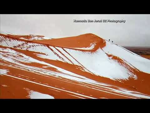 Snow falls in Sahara, the hottest desert in the world