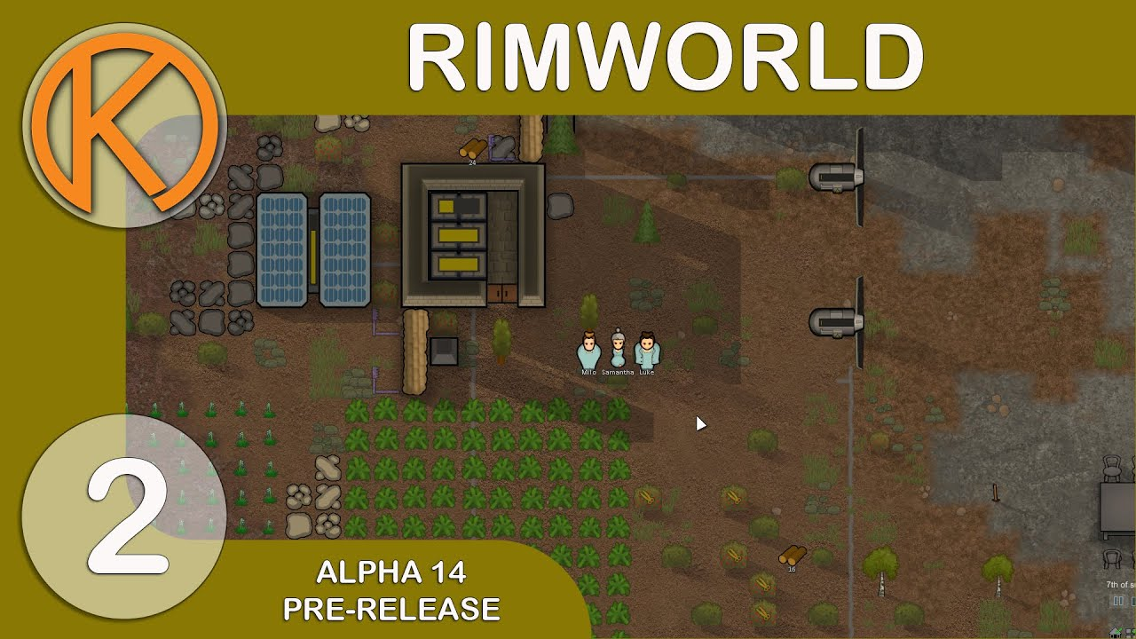 RimWorld Alpha 14 - SEX SLAVE - Ep  2 - Steam Pre-Release Gameplay / Let's  Play