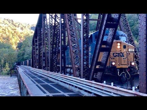 RJ Corman Loop Creek Branch Coal Train Interchanging @ CSX Mainline, Thurmond West Virginia!