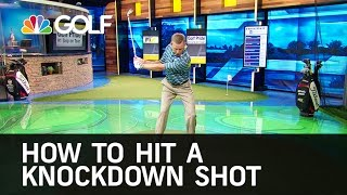 How to Hit a Knockdown Shot | Golf Channel screenshot 4