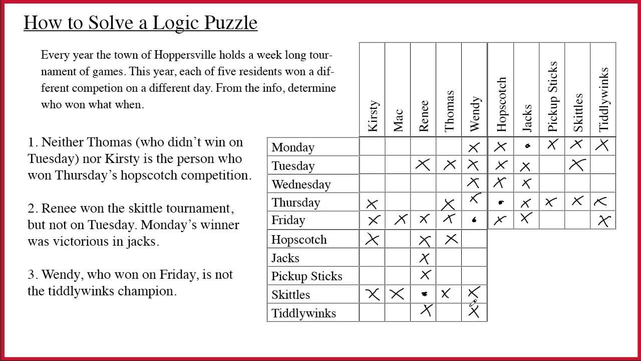 Logic Puzzles - YouTube