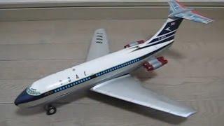 野村トーイ、電動走行   ブリキ製  B O A C ビッカースVC-10(Tin Toy VC-10)
