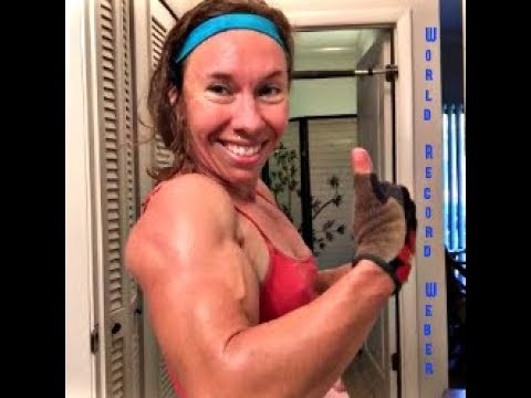 Mighty Muscle Woman Incredible Strength, Endurance, and Bicep Flexing