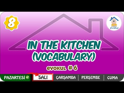 In The Kitchen ( Vocabulary) | 8.Sınıf #uzaktanegitim #evokul Kampı