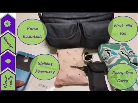 What's in my bag, purse essentials, walking pharmacy, every