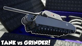 TANK vs GIANT GRINDER + Stunts! -  Brick Rigs Multiplayer Gameplay, Stunts & Shenanigans