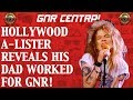 Guns N' Roses News  Hollywood A Lister Reveals His Dad Used to Work for Guns N' Roses