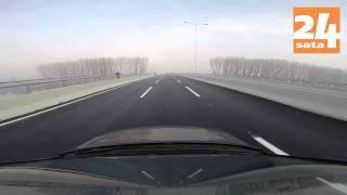 Vožnja preko mosta Zemun-Borča