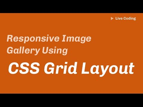 Basic Image Gallery using CSS Grid Layout (Live Coding)