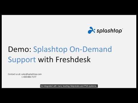 Splashtop SOS with Freshdesk