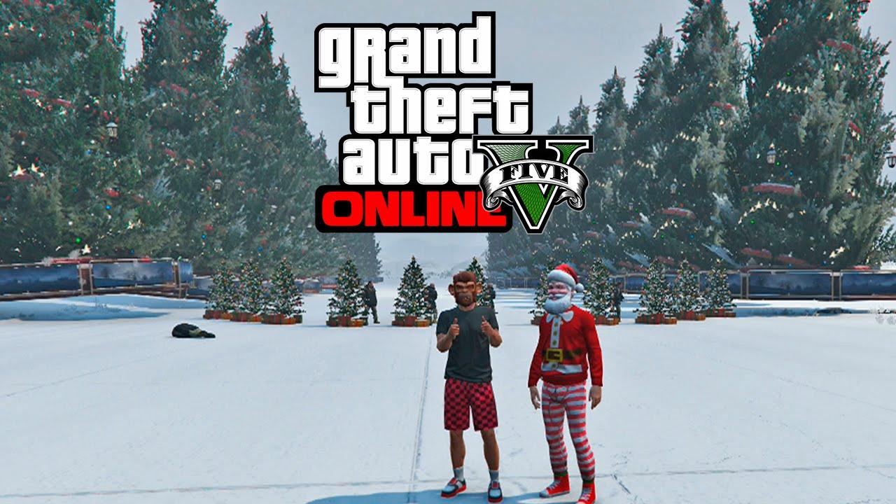 gta online arboles gigantes de navidad guerra de bolas de nieve y mas partida navidea gta online