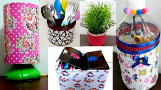 5 Awesome & Useful ideas from waste material at home #5Bestoutofwaste craft ideas easy & Useful DIY