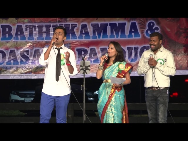 Special song performance at DATA Bathukamma & Dasara Panduga Celebrations 2016