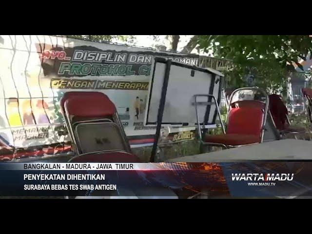 Bangkalan - Surabaya Bebas Tes Swab Antigen