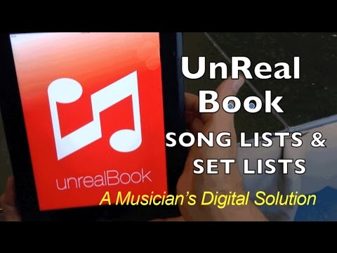 Unreal Book - Song List & Set Lists