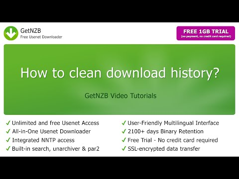 How to clean download history? GetNZB - Free Usenet Downloader