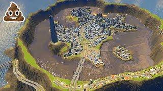 EXPERIMENT: DE MEGA POEP OVERSTROMING! - Poepdam #3 (Cities Skylines)