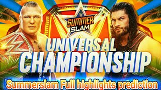 vuclip WWE Summerslam 2018 highlights & Match Card Prediction ! Roman reigns vs Brock Lesnar Result Winners