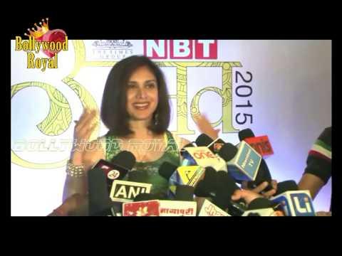 Vidya Balan Juhi Chawla & Meenakshi Seshadri at Navbharat Times Awards 2015