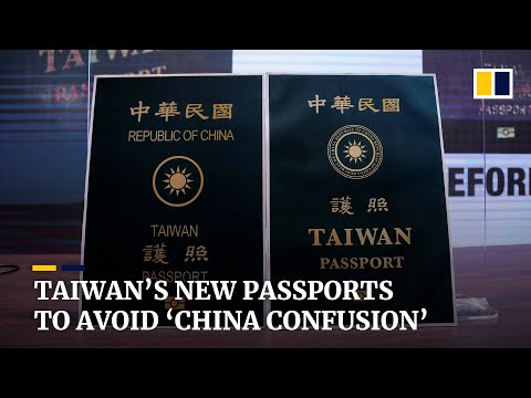 Taiwan unveils new passport design to avoid confusion with mainland China's