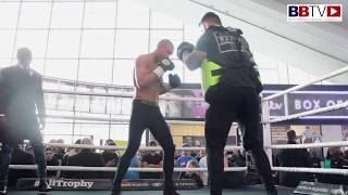 CHRIS EUBANK JR FAST PADS! - FULL PUBLIC WORKOUT AHEAD OF GROVES - BBTV