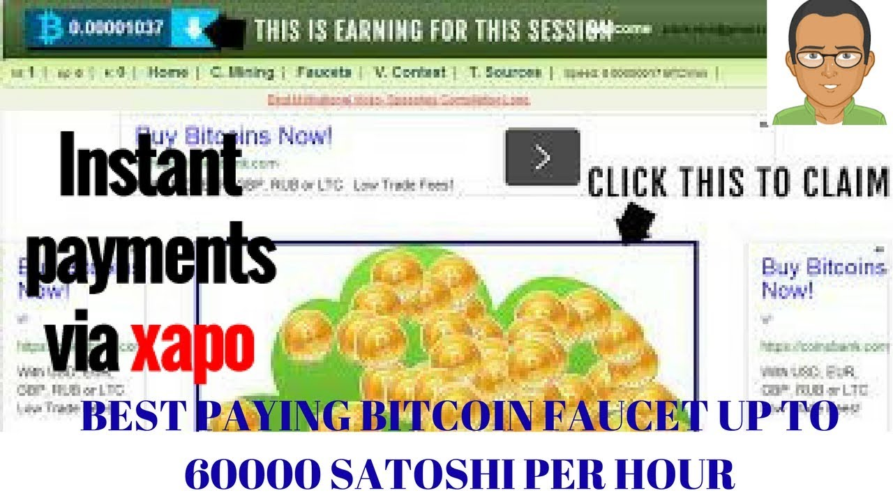 KNILOX BEST PAYING BITCOIN FAUCET UP TO 60000 SATOSHI PER HOUR ...