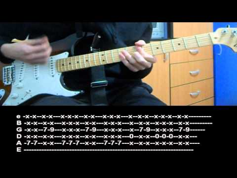RHCP - Can't Stop (Guitar lesson with TAB)