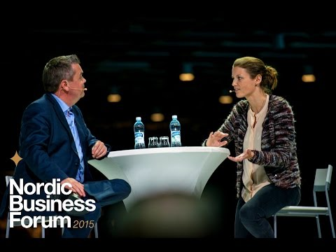 Mette Lykke discussion with Alf Rehn | Nordic Business Forum 2015