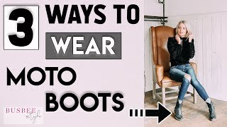 3 Ways to Wear Moto Boots