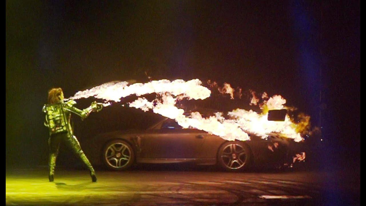 Inferno Porsche 911 Vs Flame Throwers Top Gear Live