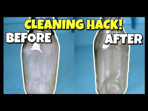 How To Clean The Inside Of Bottles Without A Brush | HACK DIY 📍 How To With Kristin