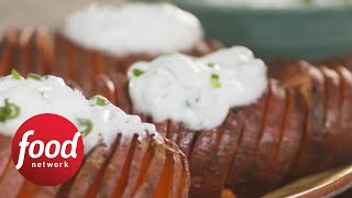 Hasselback Sweet Potatoes  Food Network