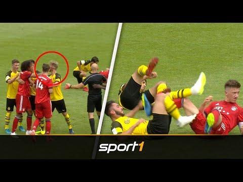 u17-finale-eskaliert:-tritte,-schläge,-platzverweise-bei-bvb-vs.-fc-bayern-|-sport1