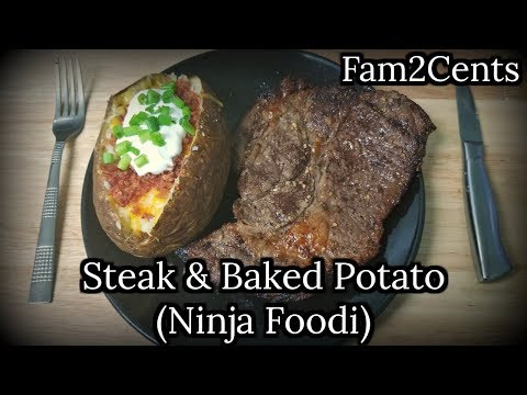 Ninja Foodi Steak And Baked Potato