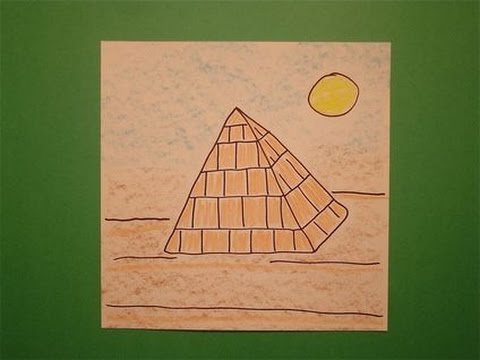 lets draw an egyptian pyramid youtube