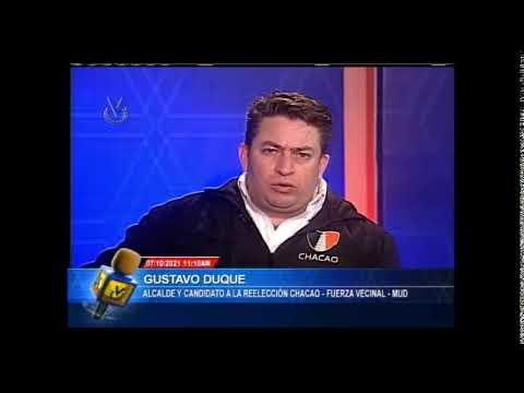 Entrevista Venevisión: Gustavo Duque, Alcalde de Chacao y candidato a reelección – 07 de Oct de 2021