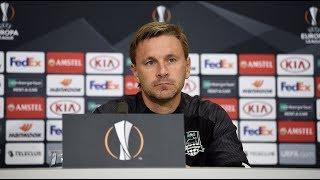 Пресс-конференция после матча «Базель» - «Краснодар»