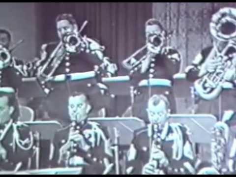 "Marines TV Show ""At Ease"" 1952 Camp Pendleton Band USMC Marine Band Korean War"