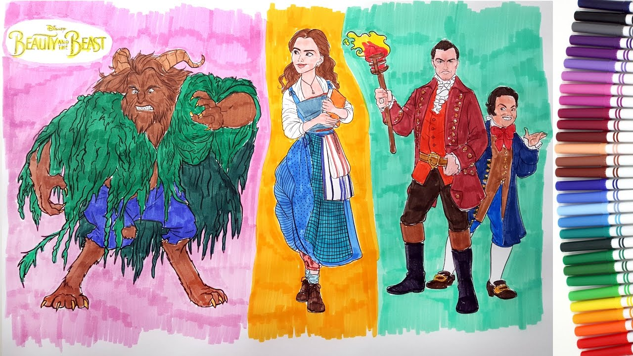 new beauty and the beast movie 2017 characters coloring pages