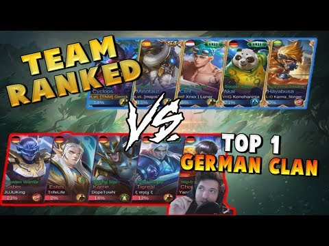 CRAZY GAME VS THE BEST GERMAN TEAM ! Mobile Legends