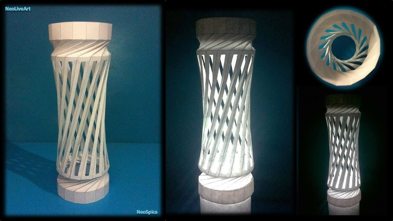 Helix Column 1 Paper Lantern Cutting And Folding Youtube