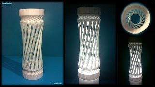 Helix Column 1 Paper Lantern Cutting And Folding