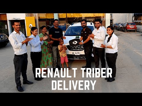 Taking Delivery of Renault Triber Ice Cool White Colour - Customer Owner Review Renault Triber 2019