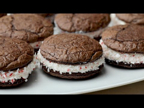 Peppermint Brownie Sandwich Cookies // Presented by Pillsbury Baking