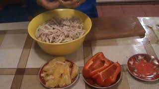 Салат из пекинской капусты и апельсином