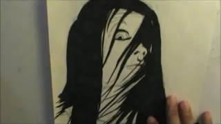Kayako (The Grudge) ju on speed drawing
