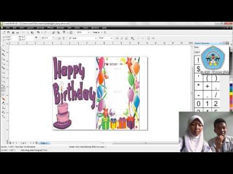 cara membuat undangan ulang tahun Dengan Corel Draw | Doovi