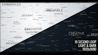 Motion Graphics File : Positive Words
