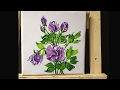 How to Paint  Roses in Acrylics with Palette Knife lesson 1